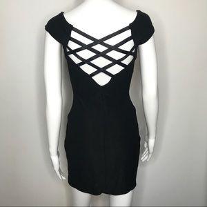 Jessica McClintock Black Corset Back Dress Medium
